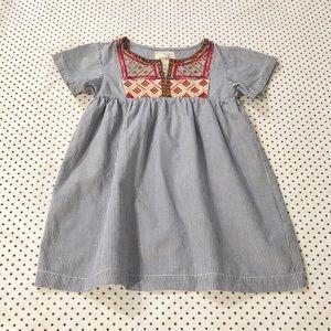 Peek Kids Arnette Embroidered Seersucker Dress